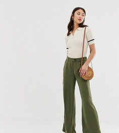 Зеленые широкие брюки Vero Moda Tall - Зеленый
