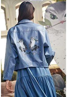 Куртка-косуха с принтом Alena Akhmadullina x Снежная Королева