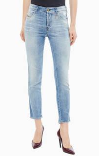 Укороченные джинсы с рваными деталями Babhila Diesel