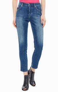 Укороченные джинсы с заломами Babhila Diesel