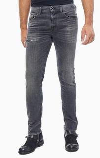 Серые джинсы с декоративной отделкой Thommer Diesel