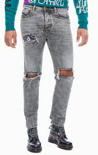 Рваные серые джинсы Mharky Diesel