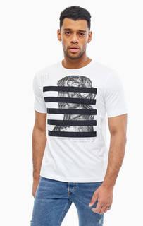Белая футболка с декоративной отделкой Diesel