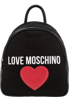 Текстильный рюкзак с логотипом бренда Love Moschino