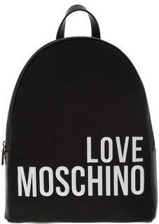 Рюкзак с вышитым логотипом бренда Love Moschino