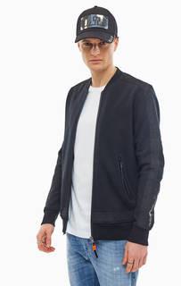 Черная хлопковая куртка бомбер Diesel