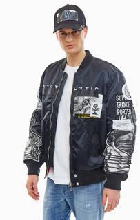 Двусторонняя куртка бомбер с декоративной отделкой Diesel