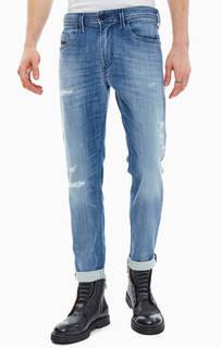 Зауженные джинсы с потертостями Thommer-Т Diesel