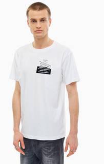 Хлопковая футболка с принтом в виде надписей Diesel