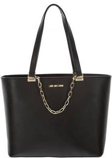 Черная сумка на молнии с одним отделом Love Moschino