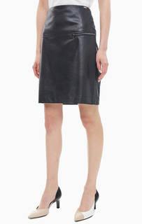Черная юбка с карманом на молнии Cinque