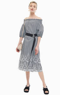 Платье в клетку с открытыми плечами Kocca