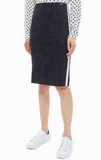 Трикотажная юбка с контрастными вставками Cinque