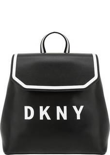 Рюкзак из гладкой кожи с откидным клапаном Dkny