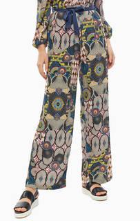 Разноцветные широкие брюки Desigual