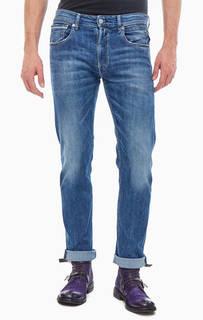 Прямые синие джинсы с застежкой на болты Grover Replay