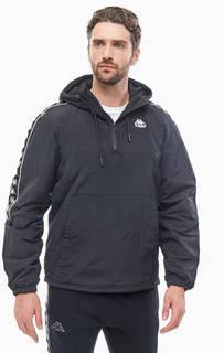Куртка-анорак черного цвета с капюшоном Kappa