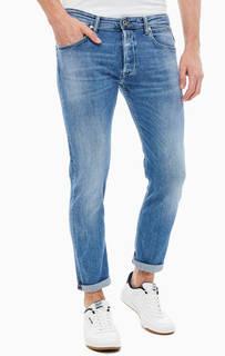 Зауженные синие джинсы с застежкой на болты Donny Replay