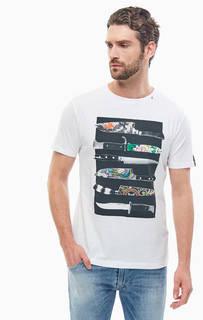 Хлопковая футболка с короткими рукавами Replay