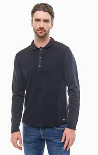 Хлопковая футболка поло с длинными рукавами Replay