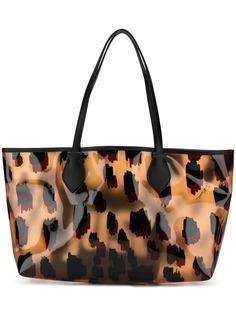 Just Cavalli сумка-тоут с леопардовым принтом