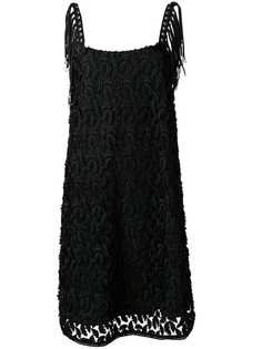Just Cavalli фактурное платье с бахромой