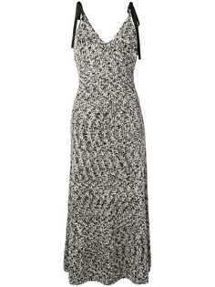 Loewe твидовое платье миди
