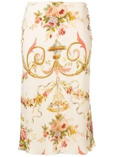 Christian Dior Vintage юбка миди с цветочным узором