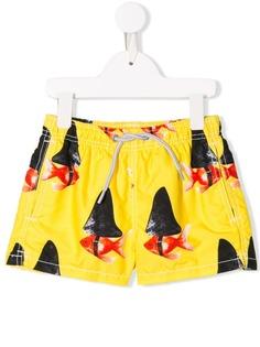 Mc2 Saint Barth Kids шорты для плавания с принтом