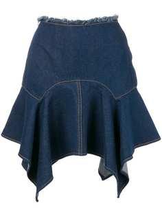 Marquesalmeida юбка с асимметричным подолом