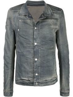 Rick Owens выбеленная джинсовая куртка