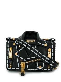 Moschino сумка в виде байкерской куртки