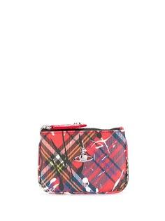 Vivienne Westwood tartan printed clutch