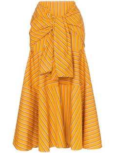 Silvia Tcherassi юбка миди с декоративной завязкой
