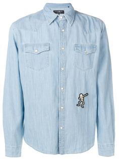 Hydrogen джинсовая рубашка с вышивкой