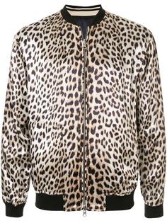 3.1 Phillip Lim куртка-бомбер с леопардовым принтом