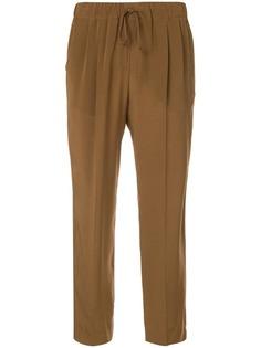 Max Mara укороченные брюки на кулиске