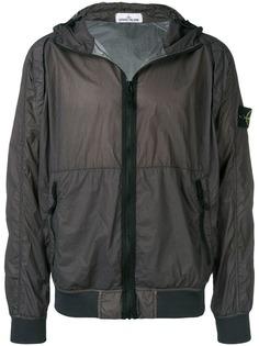 Stone Island куртка-бомбер с капюшоном