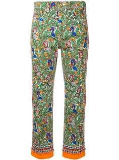 Tory Burch укороченные джинсы с принтом