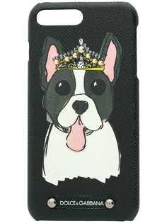 Dolce & Gabbana чехол для iPhone 7 Plus с принтом собаки в короне