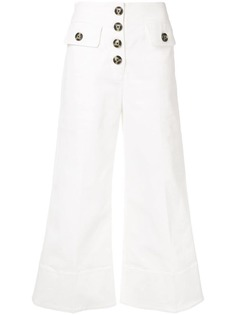Self-Portrait расклешенные брюки с завышенной талией