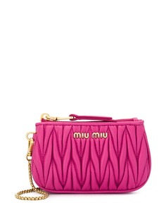 Miu Miu Matelassé leather coin pouch