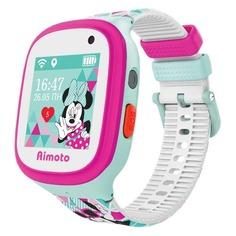 """Смарт-часы КНОПКА ЖИЗНИ Disney Микки, 1.44"""", розовый / бирюзовый [9301106]"""