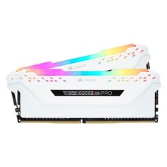 Модуль памяти CORSAIR Vengeance RGB Pro CMW16GX4M2A2666C16W DDR4 - 2x 8Гб 2666, DIMM, Ret