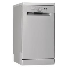 Посудомоечная машина HOTPOINT-ARISTON HSFE 1B0 C S, узкая, серебристая [155299]