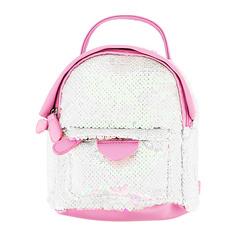 Рюкзак LADY PINK белые пайетки