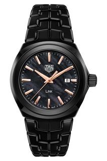 LINK Кварцевые женские часы с черным циферблатом Tag Heuer