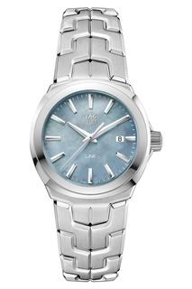 LINK Кварцевые женские часы с серым перламутровым циферблатом Tag Heuer
