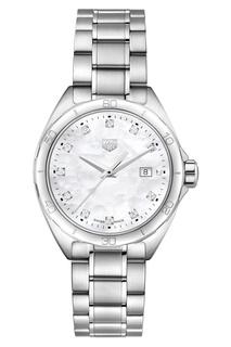 FORMULA 1 Кварцевые женские часы 32 мм с белым перламутровым циферблатом TAG Heuer