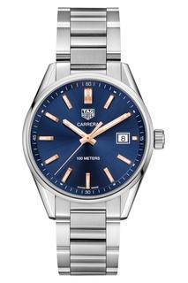 CARRERA Кварцевые женские часы с синим циферблатом TAG Heuer